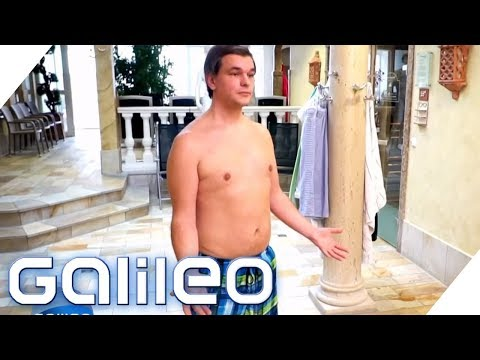 Mit Badehose in die Sauna? Was mache ich, wenn - Hallenbad-Edition   Galileo   ProSieben