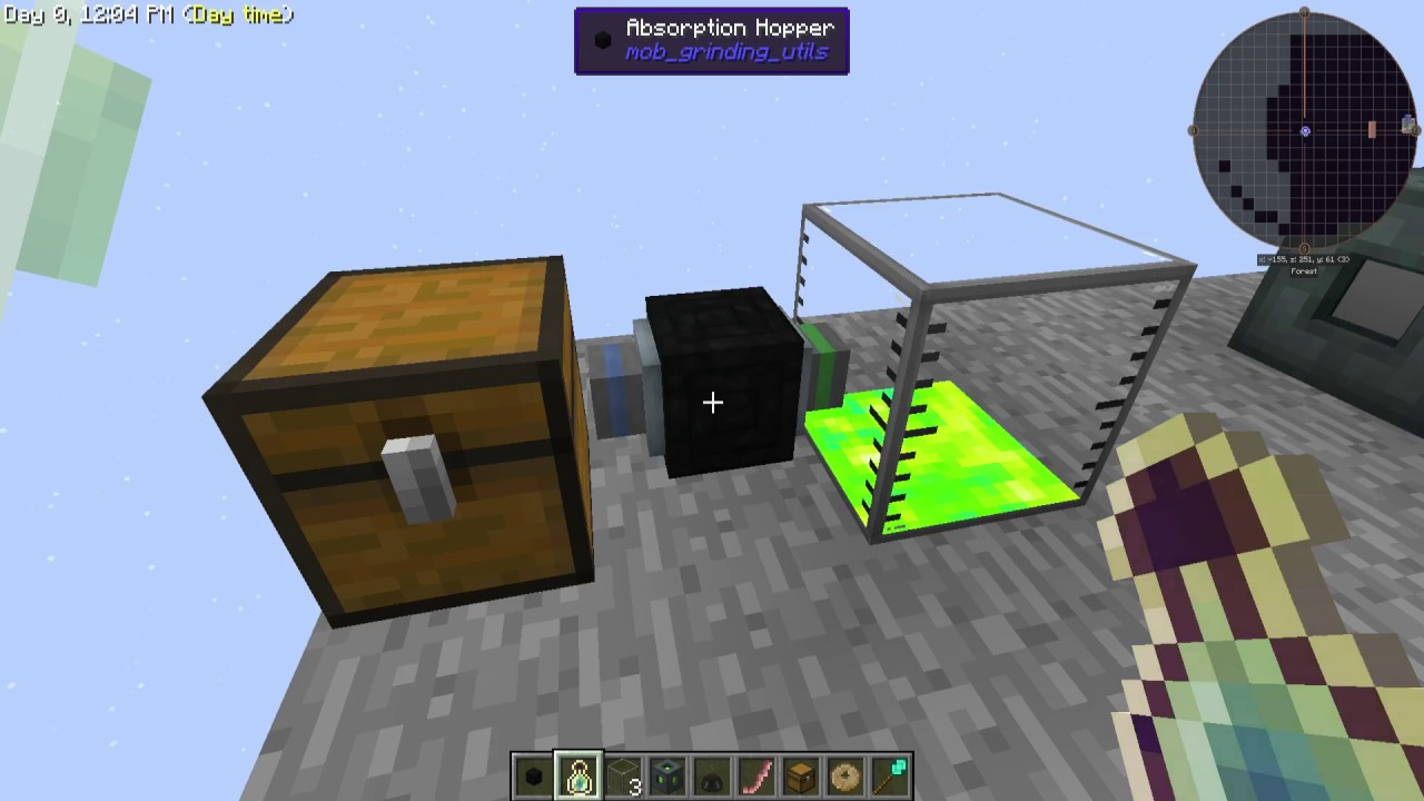 how to make absorption hopper collect xp