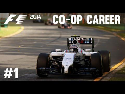 F1 2014 Co-op Career Mode Part 1 - Australian Grand Prix
