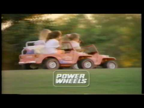 Barbie Jeep Power Wheels Beach Buggy Vehicle Toy Commercial