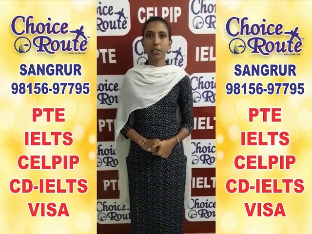 Congratulations Parneet kaur - Choice Route is the Best PTE and IELTS institute in Sangrur City.