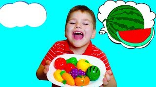 Learn names of Fruits and Vegetables. Educational video for kids by GumGumChiki