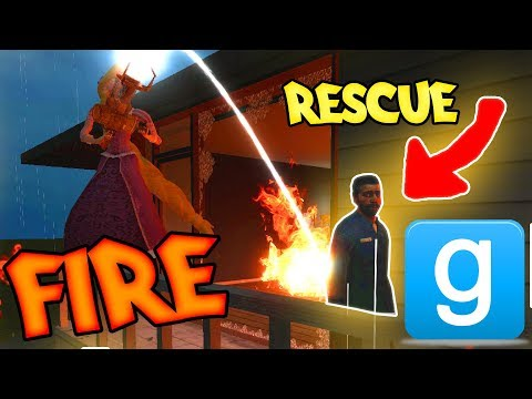 CAN WE RESCUE CIVILIANS FROM A FIRE!? - Gmod vFire Mod Challenge