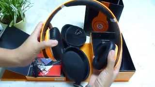 Monster Beats By Dr Dre Orange Studio Headphone Official Package with Noise Cancelling