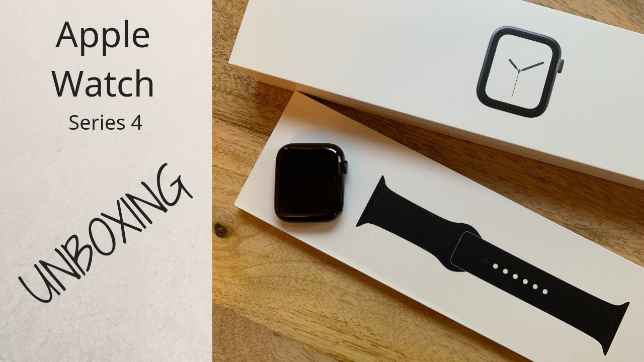 Apple Watch Series 4 Space Black Unboxing