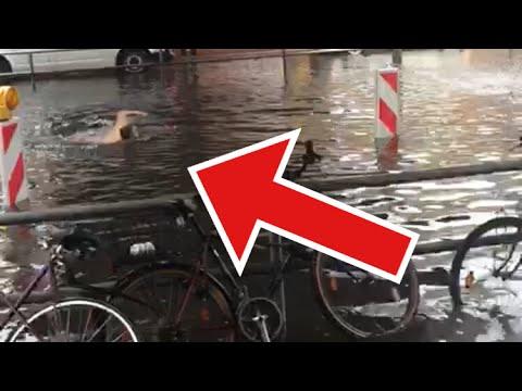 Berlin im Ausnahmezustand Part 2!! 29.06.2017 | Starkes Unwetter | Schwimmen Trotz Regen