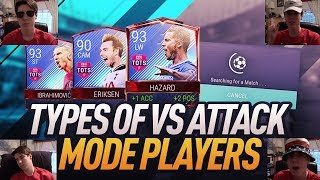 8 TYPES OF VS ATTACK MODE PLAYERS ON FIFA MOBILE