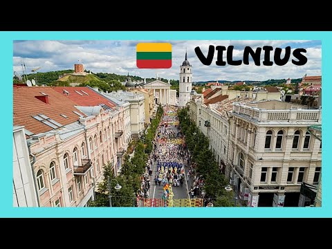 LITHUANIA: The iconic market 🛍️ of Gediminas Avenue in Vilnius, let's go!