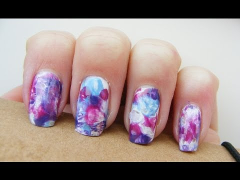 Watercolor Nail Art Without Water Youtube