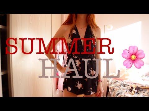Summer HAUL + TRY ON (Zara, Pull and bear, Bershka, H&M...)
