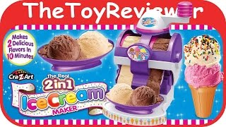 Cra-Z-Art The Real 2 in 1 Ice Cream Maker Kit Unboxing Tutorial by TheToyReviewer