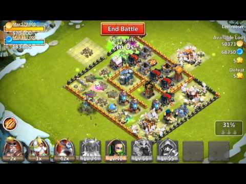 Castle clash Hero attacks - YouTube