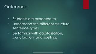 Grade 7 English Lesson Review Sentence Structure Punctuation Capitalization And Spelling Youtube Then, below it, write a sentence that is similar in structure. grade 7 english lesson review