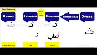 Как написать арабские буквы в словах и предложениях