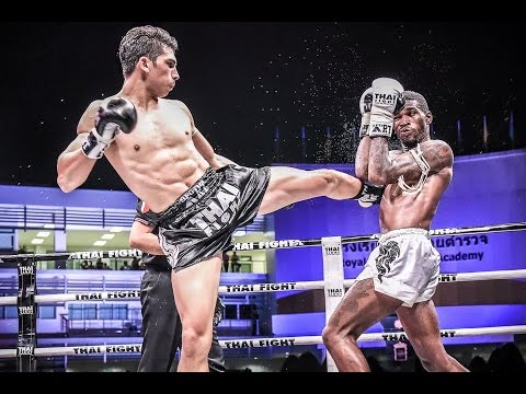 Antoine Pinto winner by KO round 2 vs Malik Watson USA   Thai Fight 2015