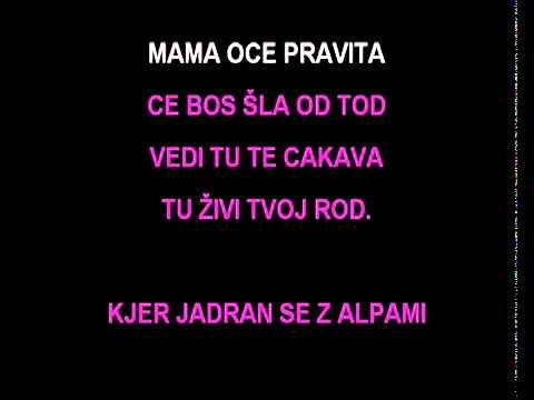 Karaoke - Klara - Za Slovenijo živim