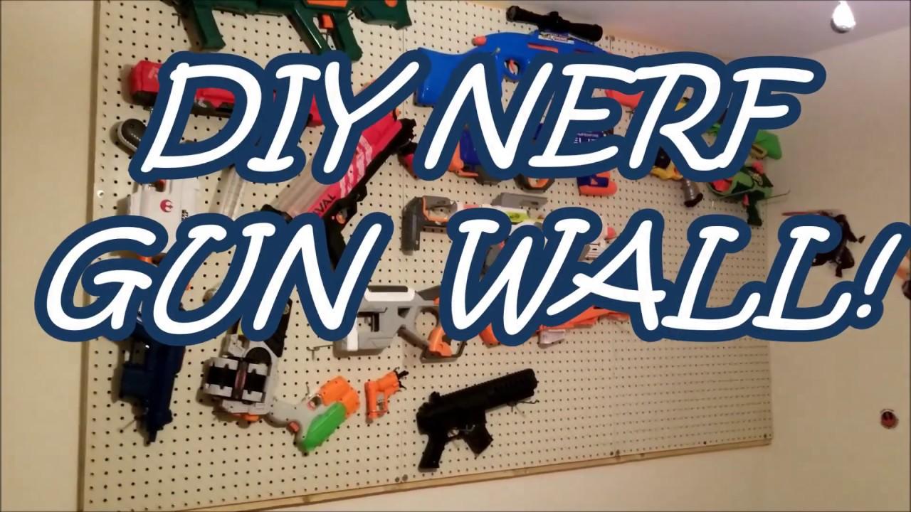 Diy Ultimate Nerf Gun Pegboard Wall Setup Jr Kids Room Feat Cats