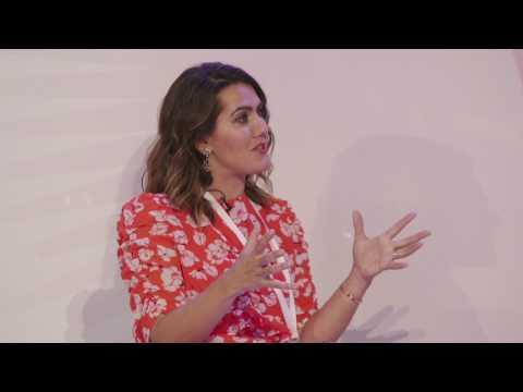 Olivia Palermo talks to Cosmopolitan editor Farrah Storr at the Cosmopolitan Self Made Event