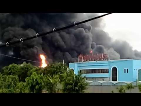 Cháy lớn khu công nghiệp tân Phú Trung (củ-chi)