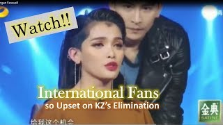 WATCH: International Fans so upset on KZ's elimination