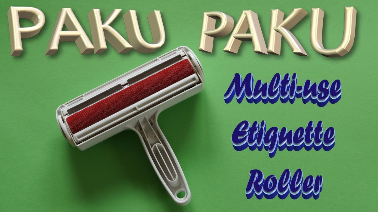 paku paku multi use etiquette roller youtube. Black Bedroom Furniture Sets. Home Design Ideas