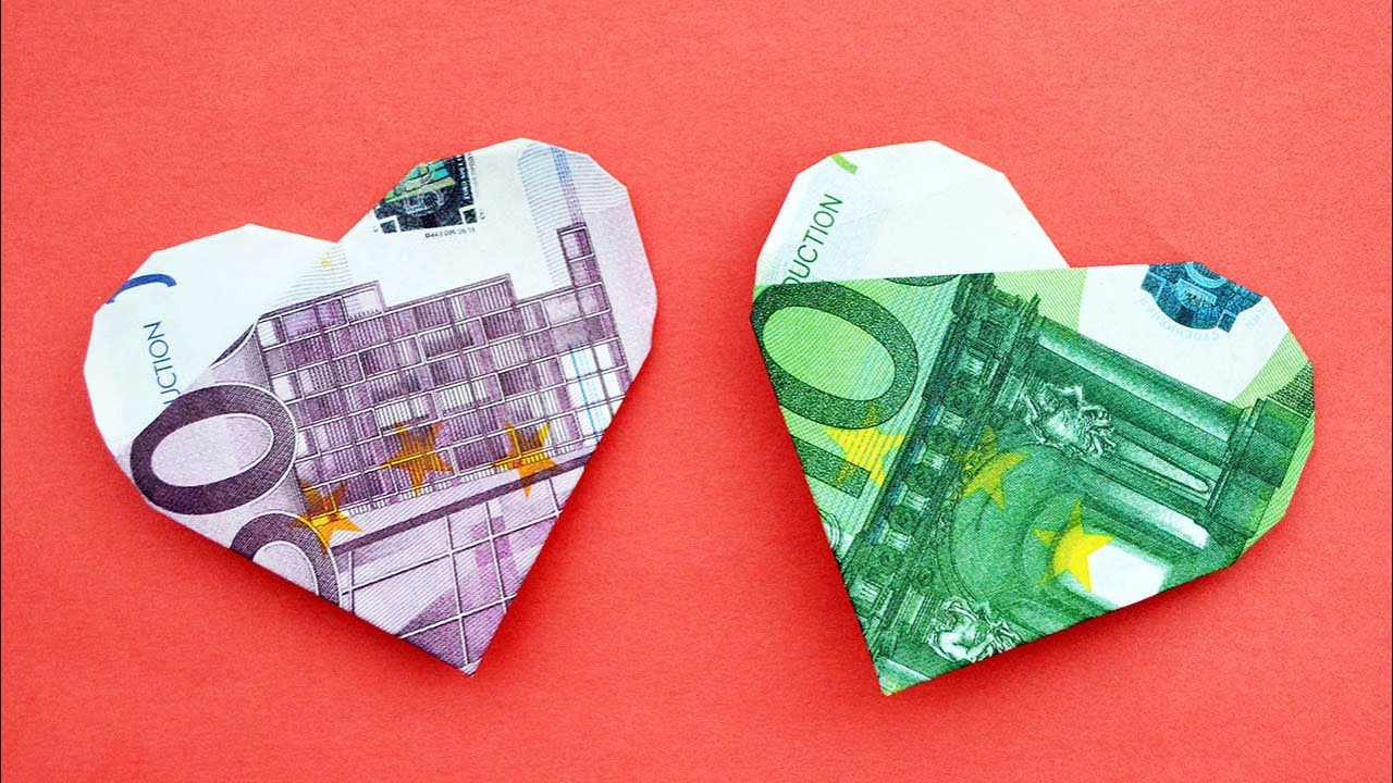 How to Make a Dollar Bill Origami Heart - YouTube | 720x1280