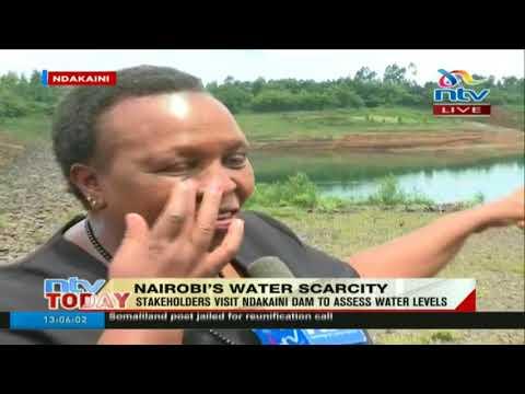Stakeholders access water levels at Ndakaini dam