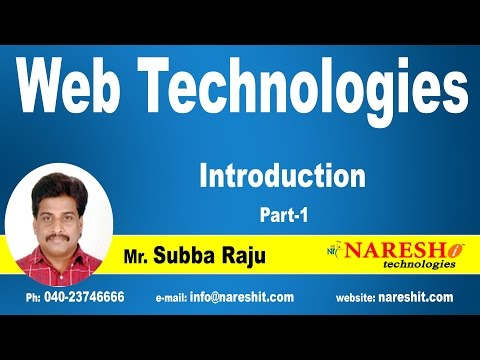 Introduction To Web Technologies - Part 1 | Web Technologies Tutorial
