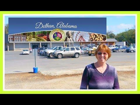 Driving through Downtown Main Street in Dothan Alabama