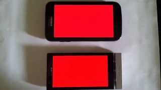 Xperia P vs Galaxy S2 X screen color and viewing angles