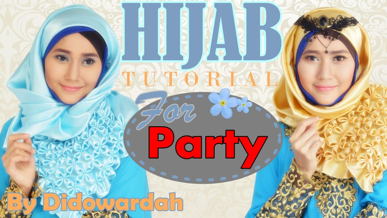 Tutorial Hijab Pesta Segi Empat Beaded Jasmine Didowardah 3 YouTube