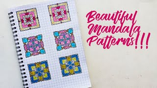 How to make BEAUTIFUL MANDALA PATTERNS!