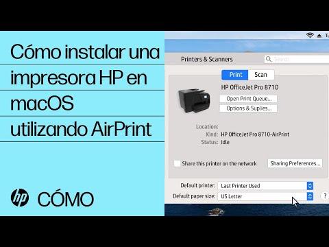 Cómo instalar una impresora HP en macOS utilizando AirPrint | HP Printers | HP