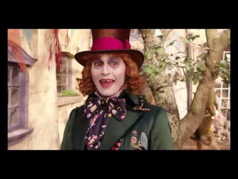 Alice through the looking glass - deleted scene p.1 - hatter makes alice a hat