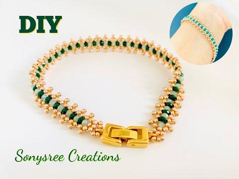 DIY Tennis Bracelet || Beaded Bracelet || Super Easy Tutorial