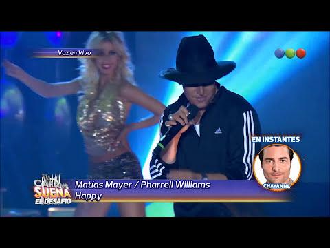 Matias Mayer es Pharrell Williams - Tu Cara me Suena 2015