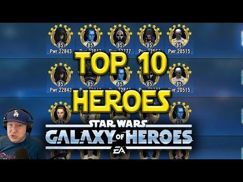 Top 10 Best Heroes May 2018 | Star Wars: Galaxy Of Heroes - SWGOH