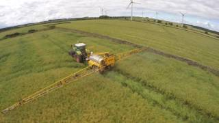 Claas Ares and Chafer Sprayer Dessicating Oil Seed Rape