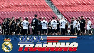 Real Madrid train at the FedExField in Maryland!