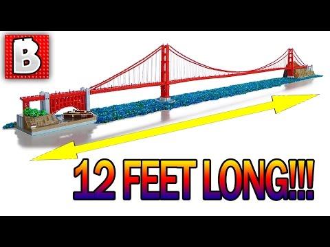 Giant LEGO Golden Gate Bridge!!! 12 Feet Long!!! | TOP 10 LEGO MOCs