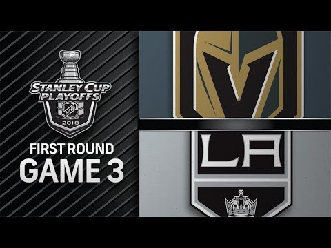 NHL 18 PS4. 2018 STANLEY CUP PLAYOFFS FIRST ROUND GAME 3 WEST: GOLDEN KNIGHTS VS KINGS. 04.15.2018 !