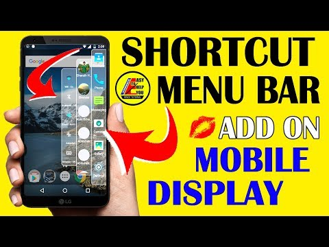 How To Add Shortcut Menu Bar In Your Mobile Display ! Easy To Help You ! Hindi !