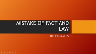 UPSC Law Optional 2020 & 2021 : Lecture on Law Of Crimes/ Indian Penal Code (IPC). Topic : Mistake