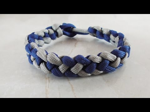 How to make a survival bracelet without buckle step by
