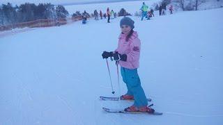 На лыжах в Вышгоре с крестной