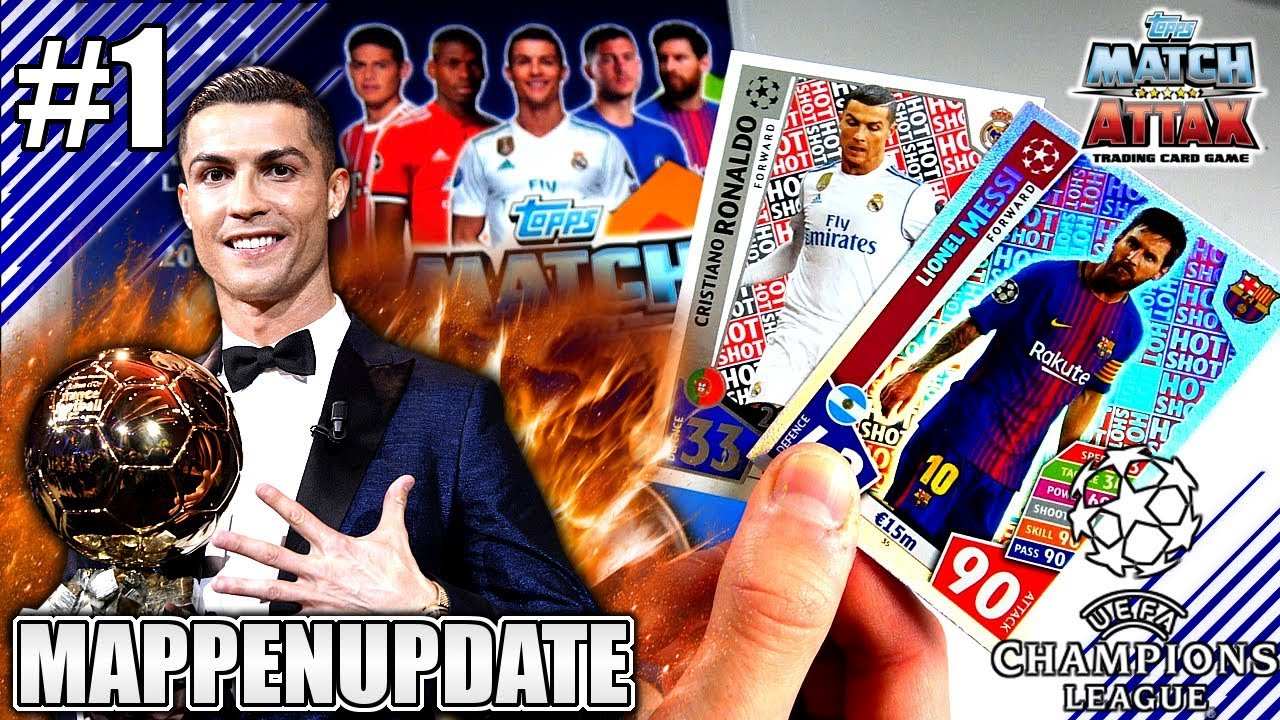 Match Attax Champions League 17 18 Mappenupdate 1 Karten 1 Bis 100