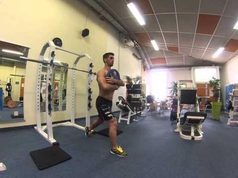 David Costa - Fitness Model - Fentes alternées sautées avec et sans poids
