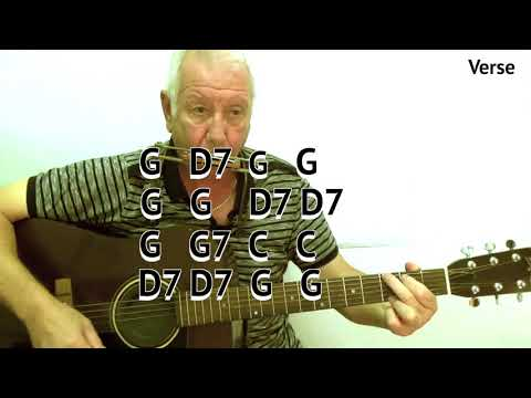 Red River Valley (G) - acoustic cover - easy chord guitar lesson - on-screen chords and lyrics
