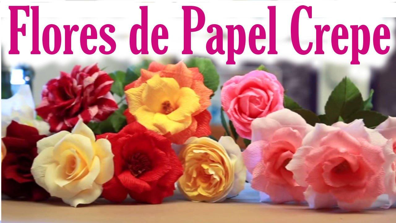 C mo hacer flores de papel crepe faciles manualidades de - Manualidades en papel ...