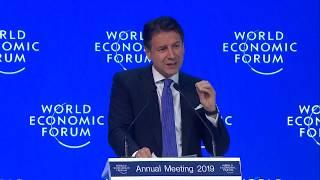 L'intervento del Presidente Conte al World Economic Forum di Davos